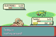 Pokemon Emerald - Battle  - Teddy is loafing around! - User Screenshot