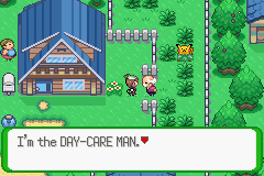 Pokemon Flora Sky - Complement Dex Version - Location Day-care Man - Right Outside your house! - User Screenshot