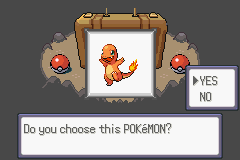 Pokemon Flora Sky - Complement Dex Version - Character Profile Starter. - Charmander. - User Screenshot