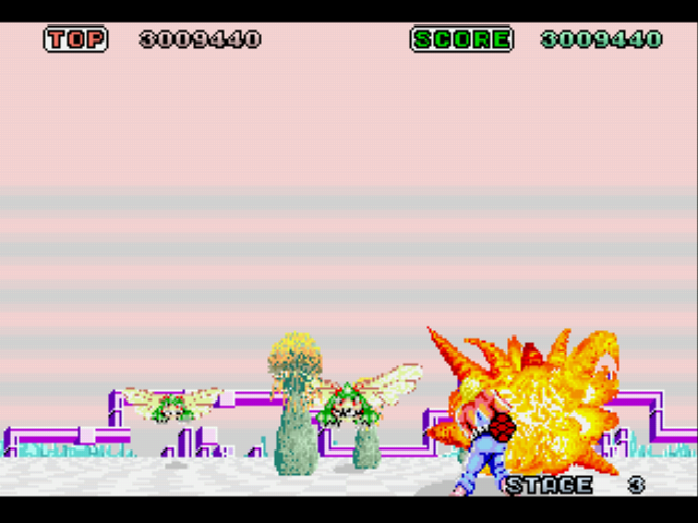 Space Harrier - Misc Gameplay - Stage 3 - User Screenshot