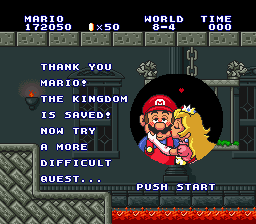 Super Mario All-Stars - Ending  - SMB - User Screenshot