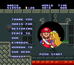Super Mario All-Stars - Ending  - SMB Hard mode - User Screenshot