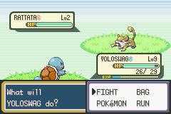 Pokemon Fuligin - Battle  - NO FREAKING POKEBALLS YET GRRRRRRRRRRRR - User Screenshot