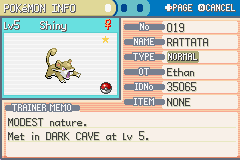 Pokemon Shiny Gold - Character Profile pokemon - Sooooo Useful  LOL - User Screenshot