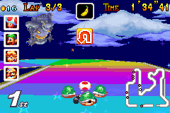 Mario Kart - Super Circuit - mario is floating in the distance - User Screenshot