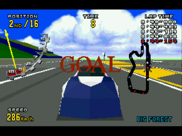 Virtua Racing Deluxe - goooaaaal in! - User Screenshot
