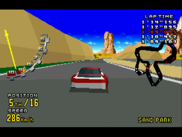 Virtua Racing Deluxe - Level  -  - User Screenshot