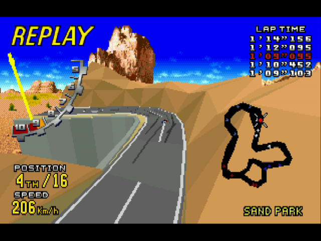 Virtua Racing Deluxe - Level  - high view - User Screenshot
