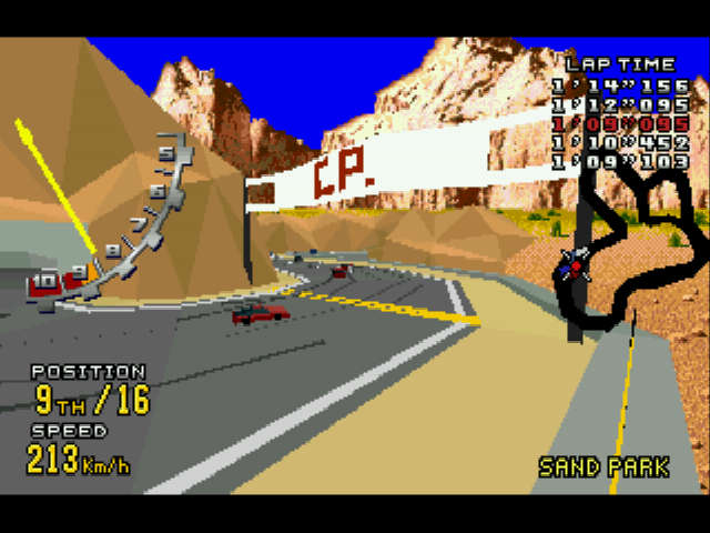 Virtua Racing Deluxe - Misc  - turnin