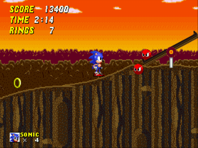 Sonic 2 - The Lost Worlds - Level Rock Zone - ZOMG DOUBLE ORBINAUGHT ALL THE WAY!!!!!!!!!!! - User Screenshot