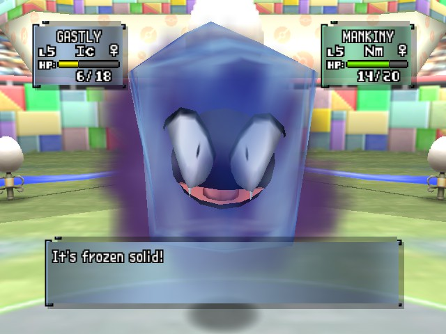 Pokemon Stadium 2 - Battle  - I was frozen today! - User Screenshot