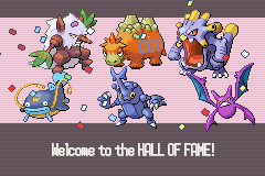 Pokemon Ruby - Ending  - underleveled and won  - User Screenshot