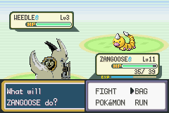 Pokemon Advanced Adventure - Battle  - Course. My first shiny is a Weedle. Of.Course - User Screenshot