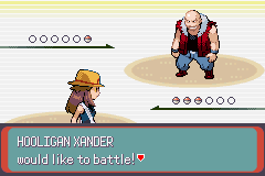 Pokemon Glazed (beta 3) - Battle  - Well... arent you a little... big. *GULP* - User Screenshot