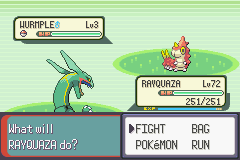 Pokemon Emerald - Battle  - Picking on the weak. - User Screenshot