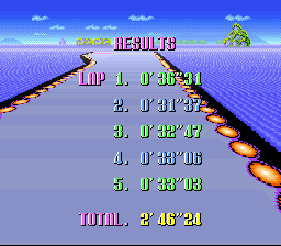 F-ZERO - Gameover  - Not too bad for my first try...  - User Screenshot