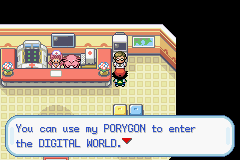 Pokemon Ash Gray (beta 3.61) - Location Pokemon Center - PORYGON. IS NOT. A DIGIMON!!! - User Screenshot