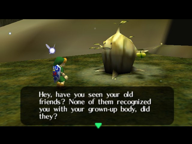 The Legend of Zelda - Ocarina of Time (Debug Edition) - Cut-Scene  - Grown-up? Dude, I