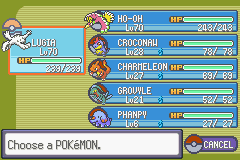 Pokemon Rebirth - Character Profile  - proof of my low level team - User Screenshot