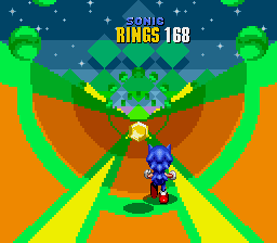 Sonic the Hedgehog 2 - Mini-Game Aquatic Ruin Zone - Proof That I got the Yelow Emerald - User Screenshot