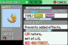 Pokemon Flora Sky - Complement Dex Version - Character Profile  - Shiny #1 in this game - User Screenshot