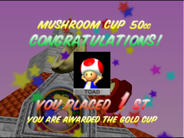 Mario Kart 64 - Ending  - All first places. - User Screenshot
