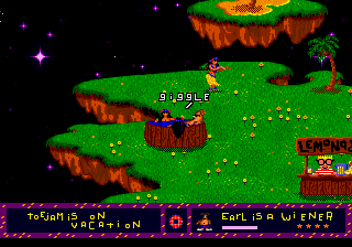 ToeJam & Earl - Level  - Swiming with dancers on jacuzzi (Level 0) - User Screenshot