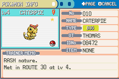 Pokemon Shiny Gold - Character Profile  - SHINY!! - User Screenshot