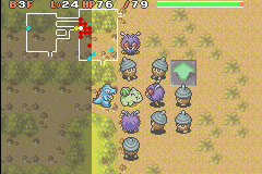 Pokemon Mystery Dungeon - Red Rescue Team - Battle  - WHAT THE HECK?! no fair! - User Screenshot