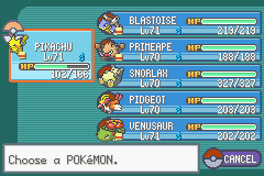 Pokemon Ash Gray (beta 3.61) - Character Select  - Team that rewrote season 1 - User Screenshot