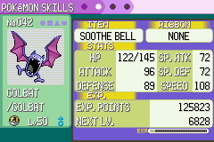 Pokemon Emerald - Character Profile pokemon profile - when will it eveolve? D: - User Screenshot
