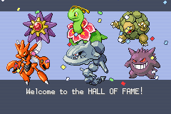 Pokemon Shiny Gold - Ending  - My 1st elite four team! - User Screenshot