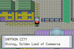 Pokemon Ash Gray (beta 3.61) - Location Saffron City - When exactly was that? - User Screenshot