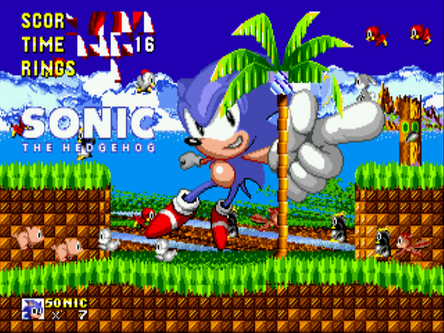 Sonic 1 Megamix (beta 4.0) - Cut-Scene  - A glicthy ending - User Screenshot