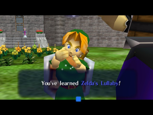 The Legend of Zelda - Ocarina of Time - Cut-Scene  - IS THAT A WORM??? - User Screenshot