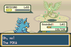 Pokemon Leaf Green - Battle  - i swear the game dosent want me to catch it - User Screenshot