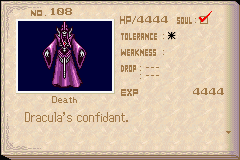 Castlevania - Aria of Sorrow - Character Profile  - Death - User Screenshot