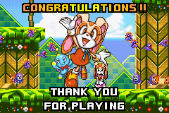 Sonic Advance 2 - finished with cream - User Screenshot