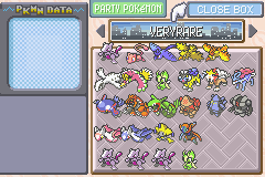 Pokemon Rebirth - Character Select  - legendary pokemon - User Screenshot