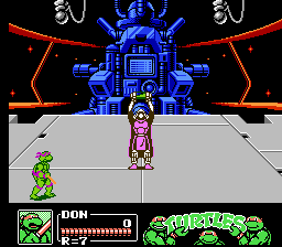 Teenage Mutant Ninja Turtles III - The Manhattan Project - Battle  - Umm, Shredder? - User Screenshot
