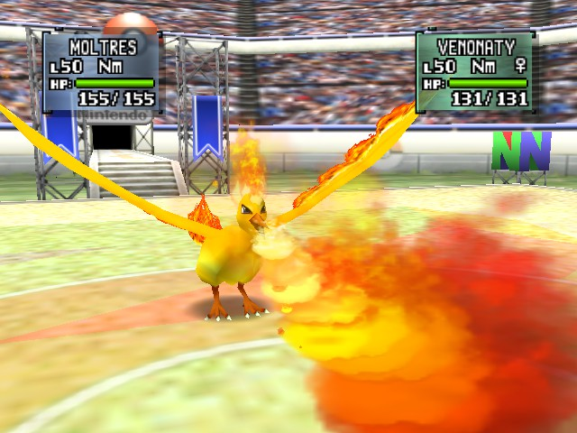 Pokemon Stadium 2 - Battle  - Moltres, Fire Blast it! - User Screenshot