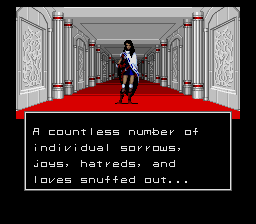 Shin Megami Tensei (english translation bug fix) - Ending  - The last shot of the endings, the heroine. - User Screenshot
