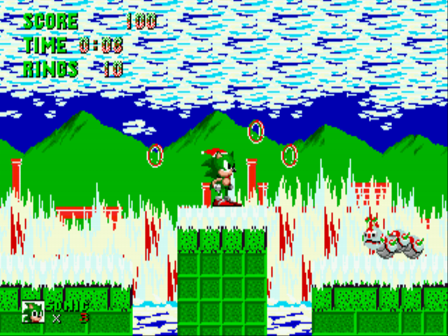 Sonic the Hedgehog - Christmas Edition - Level marble zone -  - User Screenshot