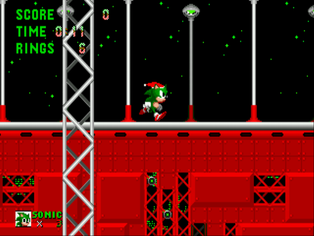 Sonic the Hedgehog - Christmas Edition - Level star light zone -  - User Screenshot