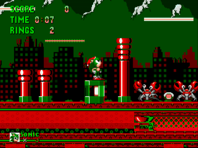 Sonic the Hedgehog - Christmas Edition - Level spring yard zone -  - User Screenshot