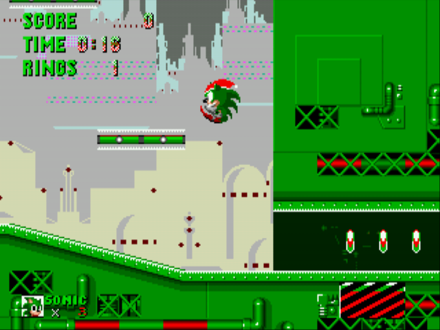 Sonic the Hedgehog - Christmas Edition - Level Scrap brain zone -  - User Screenshot