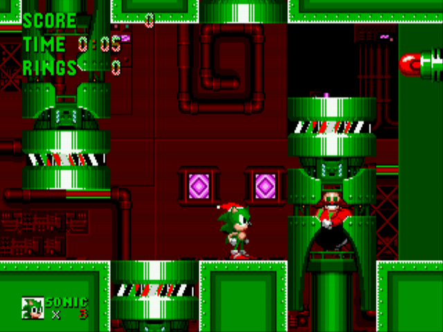 Sonic the Hedgehog - Christmas Edition - Level Final zone -  - User Screenshot