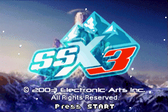 SSX 3 - Introduction  - Title screen - User Screenshot