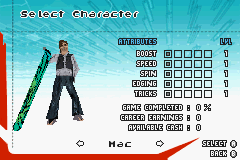 SSX 3 - Character Select  - Character select - User Screenshot