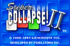 Super Collapse! II - Introduction  - Title screen - User Screenshot